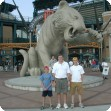 Joe at Comerica Park with his Uncle Jim and cousin Ben