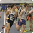 Joe running indoor track at the University of Michigan track
